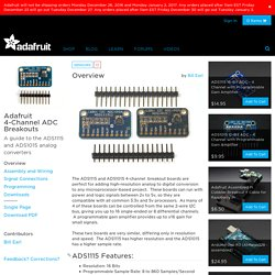 Adafruit 4-Channel ADC Breakouts