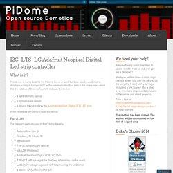 I2C-LTS-LC Adafruit Neopixel Digital Led strip controller « PiDome