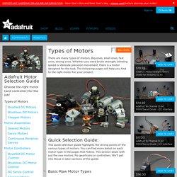 Adafruit Motor Selection Guide
