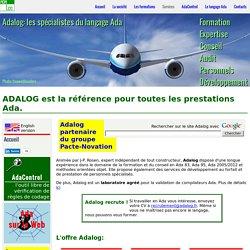 Adalog: page d'accueil