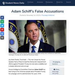 Adam Schiff's False Accusations