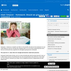 Adam Simpson - Homework: Should we give it or not?