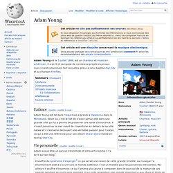 Adam Young chanteur et musicien
