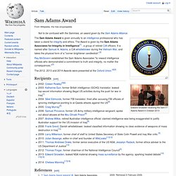 Sam Adams Award