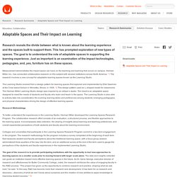 Adaptable Spaces and Their Impact on Learning – Research