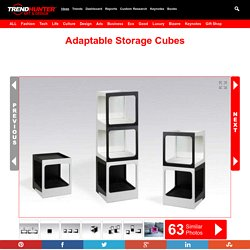 Adaptable Storage Cubes : modular storage units