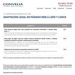 ADAPTACIÓN LEGAL DE PÁGINAS WEB A LOPD Y LSSICE