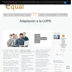 Adaptación a la LOPD - Ley de protección de datos