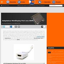 Adaptateur MiniDisplay Port vers HDMI