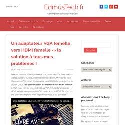 Un adaptateur VGA femelle vers HDMI femelle -> la solution à tous mes problèmes ! - EdmusTech.fr