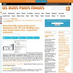 Vente flash Adaptateurs CPL TP-Link 500 Mbps /avec prise secteur