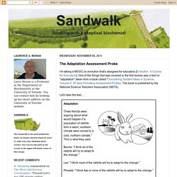 Sandwalk: The Adaptation Assessment Probe