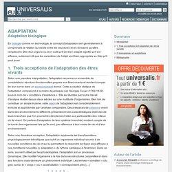 ADAPTATION - Adaptation biologique
