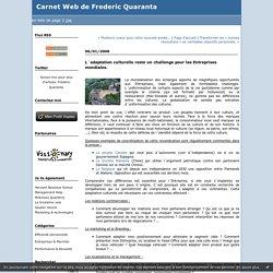 L´adaptation culturelle reste un challenge pour les Entreprises mondiales. : Carnet Web de Frederic Quaranta