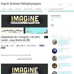 Adaptation de « Imagine » de John Lenon , sous forme de BD