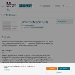 Fiche adaptation - Cap école inclusive - Réseau Canopé