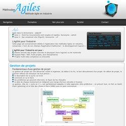 Méthode Agile : Adaptation des méthodes Agiles en industrie