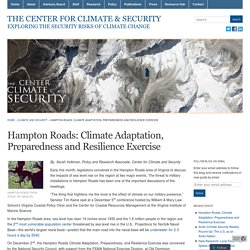 Hampton Roads: Climate Adaptation, Preparedness and Resilience Exercise « The Center for Climate & Security