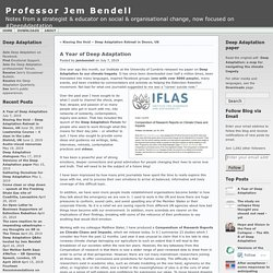 A Year of Deep Adaptation « Professor Jem Bendell