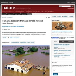 Human adaptation: Manage climate-induced resettlement