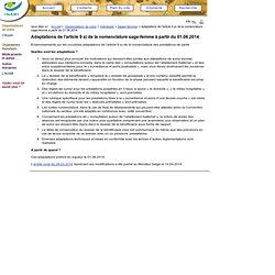 Sages-femmes - Adaptations de l'article 9 a) de la nomenclature sage-femme à partir du 01.06.2014 - INAMI