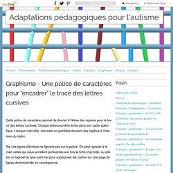 """Graphisme - Une police de caractères pour """"encadrer"""" letracé des lettres cursives - Adaptations pédagogiques pour l'autisme"""