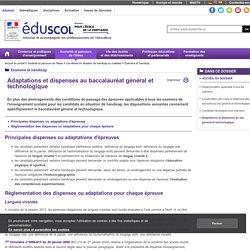 Examens et handicap - Adaptations et dispenses au bac général et technologique