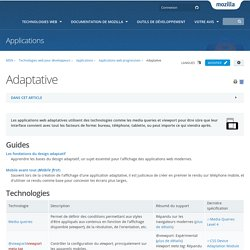 Adaptative - Applications