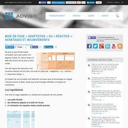 Mise en page « adaptative » ou « réactive » : avantages et inconvénients