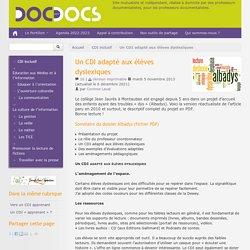Un CDI adapté aux élèves dyslexiques - Doc pour docs