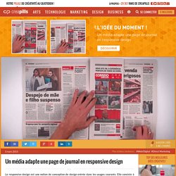 Un média adapte une page de journal en responsive design