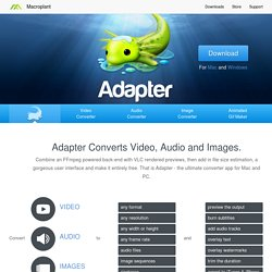 Adapter - Free Image and Video Converter for Mac and PC