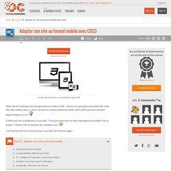 Adapter son site au format mobile avec CSS3