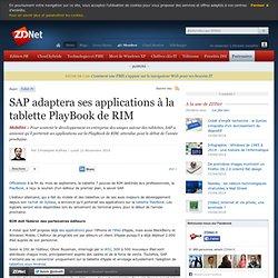 SAP adaptera ses applications à la tablette PlayBook de RIM