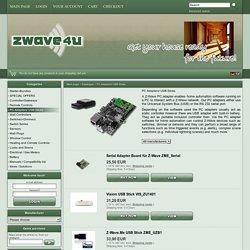 PC Adapters/ USB Sticks - zwave4u - Ihr Smarthome Spezialist