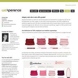Adaptez votre site à votre offre produit