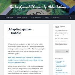 Adapting games – Dobble