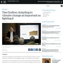 Tim Grafton: Adapting to climate change as important as fighting it
