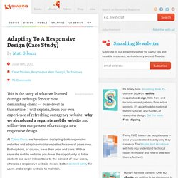 Adapting To A Responsive Design (Case Study)