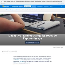 L'adaptive learning change l'apprentissage