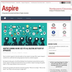 Adaptive Learning: No One-Size-Fits-All Solution, but Plenty of Approaches