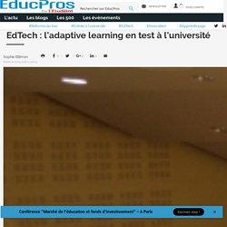 EdTech : l'adaptative learning en test à l'université