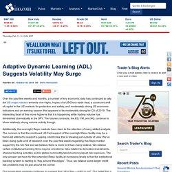 Adaptive Dynamic Learning (ADL) Suggests Volatility May Surge - INO.com Trader's Blog
