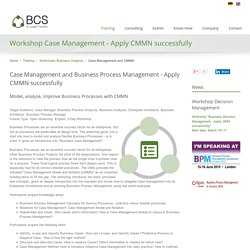 Adaptive Case Management for Business Analysts and CMMN