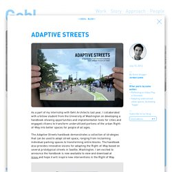Adaptive Streets - Gehl Architects