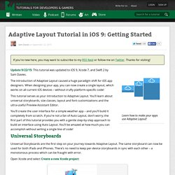 Adaptive Layout Tutorial in iOS 9: Getting Started