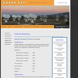 ADASS XXII Conference