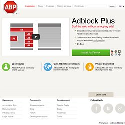 Adblock Plus — for annoyance-free web surfing