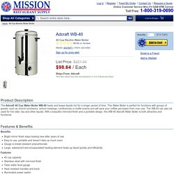 Adcraft WB-40 40 Cup Electric Water Boiler