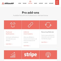 Add-ons - AffiliateWP